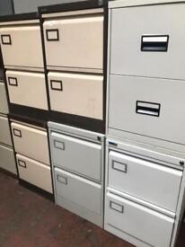 2 Draw Metal Filing Cabinet