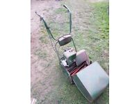 Atco Deluxe 14 petrol cylinder lawnmower, self propelled with clutch