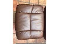 The Mandalay - Quality Bonded Leather / Fabric Recliner Swivel Chair & Footstool RRP 220