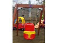 plum toddler swing