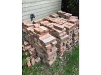 500 soft red reclaim bricks in excellent condition