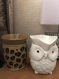 Scentsy owl and leopard warmers £25 each