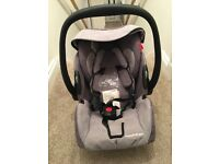 Recaro Young Profi Plus 0+ car seat, isofix base and recaro cosytoes