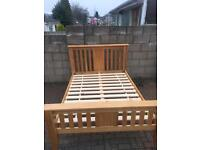 Dreams solid oak double bed in excellent condition