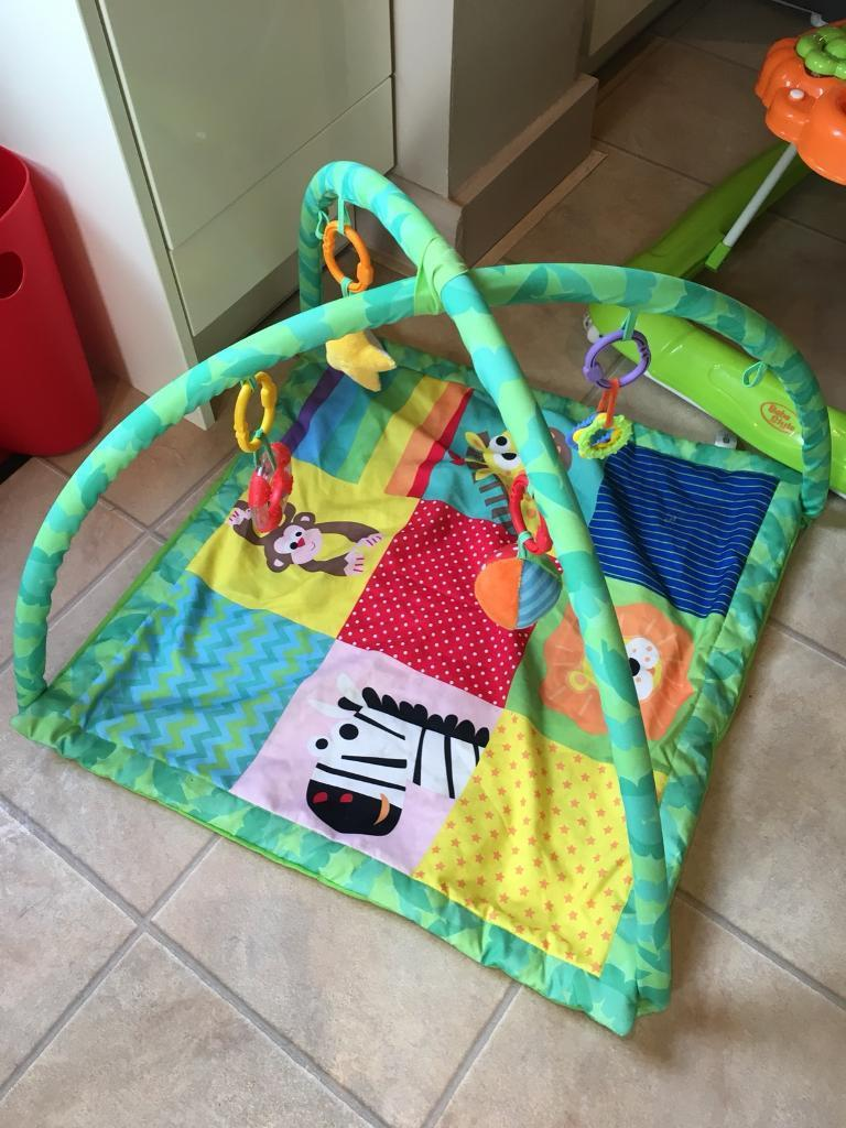 Baby bouncer, walker and playmat