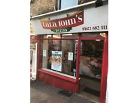 Pizza and Kebab shop for sale flat above the shop