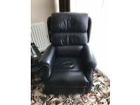 Rise and Recliner Chair ( Black Leather )