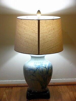 Vintage Porcelain Wildwood Table Lamp Porcelain Tree Branches & Leaves