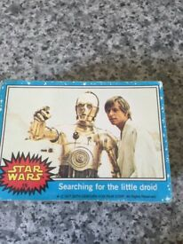 Star wars 1977 collector cards