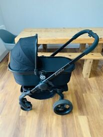 iCandy Peach3 Jet Black travel system pram pushchair stroller with carrycot
