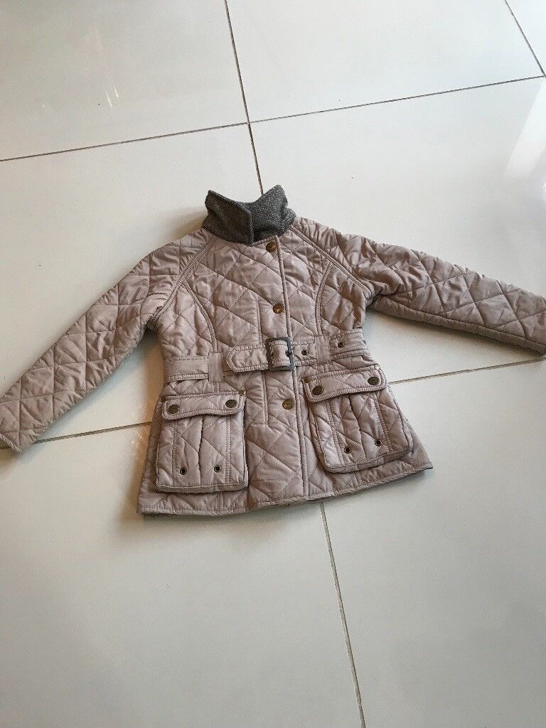 Next girls beige jacket with fleece lining age 5-6