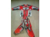 childs wulf motocross race top and bottoms