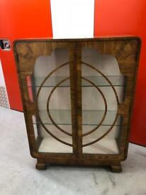 QUALITY VINTAGE GLASS DISPLAY CABINET