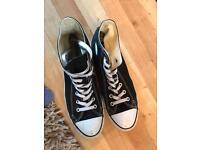 Black converse high tops size 9