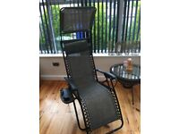 New boxed garden recliner chair