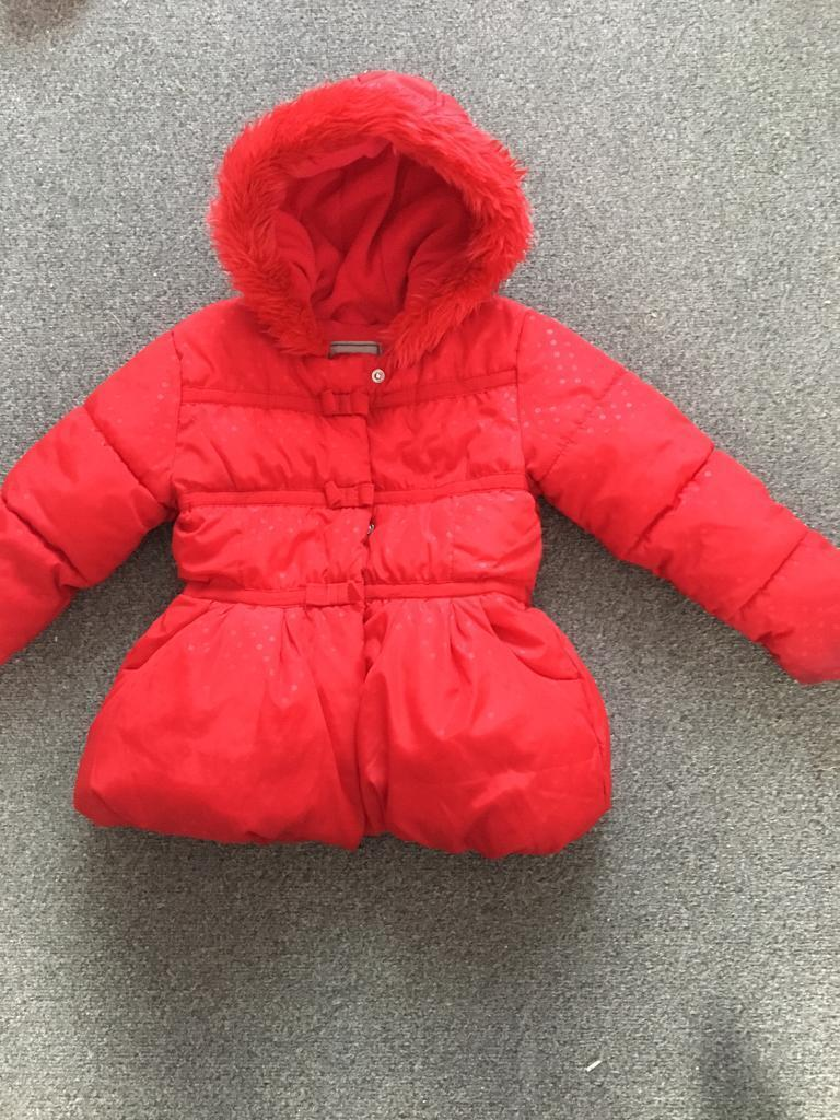 Girls age 4-5 red next coat