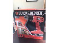 Black and Decker 18v drill new in box
