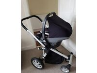 Quinny Buzz Pushchair with Maxi-Cosi Pebble Travel System and raincover
