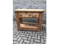 Rustic pine kitchen island (delivery available)