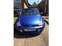 Ford ka street convertible, blue
