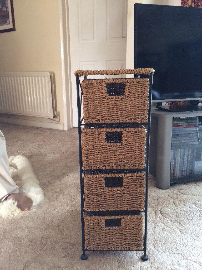Wicker storage unit - used