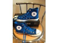 Electric blue converse