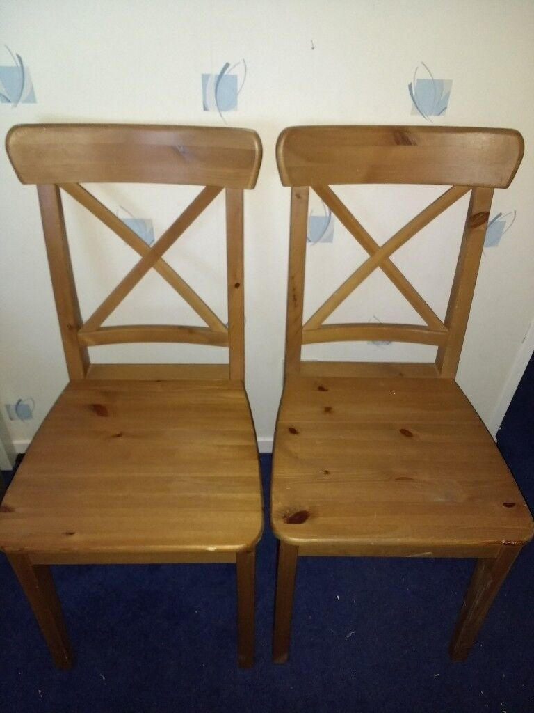 2 x PINE Dining / Kitchen Chairs