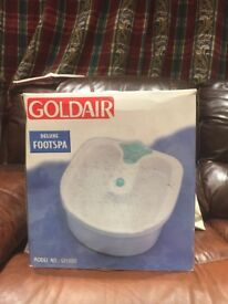 GOLDAIR DELUXE FOOT SPA - EXCELLENT CONDITION (ONLY BEEN USED ONCE)