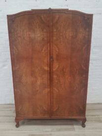 Queen Anne Style Walnut Wardrobe (DELIVERY AVAILABLE FOR THIS ITEM OF FURNITURE)