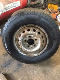 For Sale wheel and Brand New tyre for Mercedes Sprinter 225/70R15C