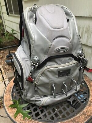 Oakley Big Kitchen Backpack Rare Silver Grey w/ Cool Stainless Hardware