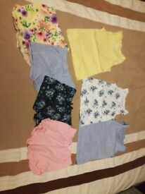 Size 2-3 shorts and vests/tops