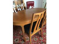 Nathan extendable dining table with 6 chairs
