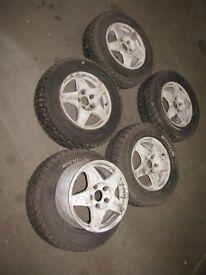 "Mitsubishi Evo 5 6 7 8 9 15"" Compomotive Mo Alloy Wheels Rally Car Civic"