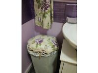 Beautiful Loyd loom style vintage/shabby chic laundry basket £15 plus other items
