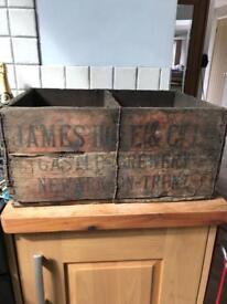 Vintage Wooden Castle Brewery Crate