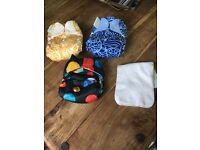 SOLD -3 x nappies (bumgenious and totsbots)