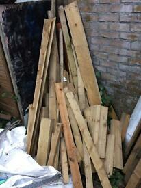 Scrap treated timber. Mix of fencing, construction timber. Clean timber