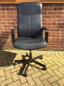 Leather swivel chair from Ikea