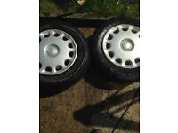 4 x mazda bongo wheels and tyres with wheel trim