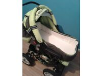 Baby Supportive 2 in 1 Pram - Green