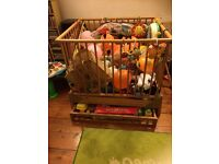 Free Scandinavian play pen with storage