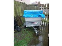 Small trailer for sale. Erde 102 with box and lid