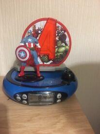 Avengers radio alarm clock