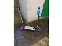 Light up 2 wheel scooter