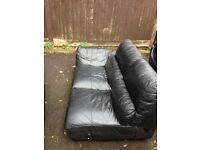FREE FREE Black leather corner sofa