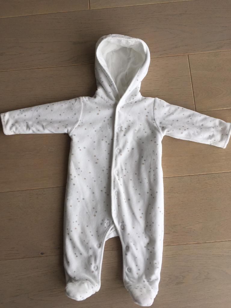 The Little White Company Pramsuit Romper Snowsuit Size 3-6 months | in  Greenwich, London | Gumtree