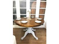Laura Ashley table extendable Free Delivery Ldn solid wood shabby chic