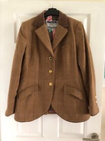Ladies JOULES Parade Brown Check Blazer Jacket Size 16 Immaculate