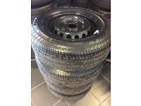 """4 brand new 15"""" genuine ford transit wheels with tyres"""